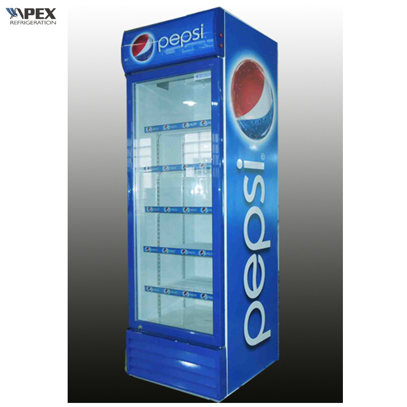China 280l Swing Glass Door Cooler Commercial Refrigerator Photos