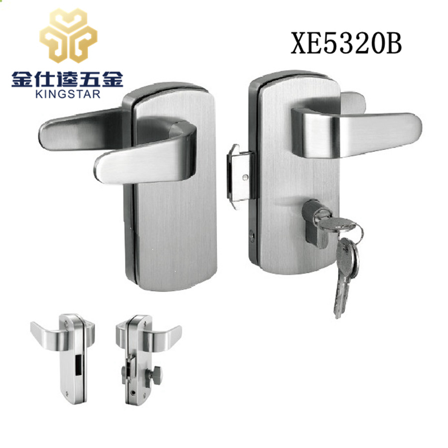 China Glass Door Security Lock For Frameless Glass Sliding Door