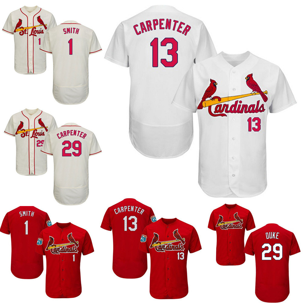 buy popular 064b0 ac0c5 [Hot Item] St. Louis Cardinals Matt Carpenter Ozzie Smith Throwback  Baseball Jersey