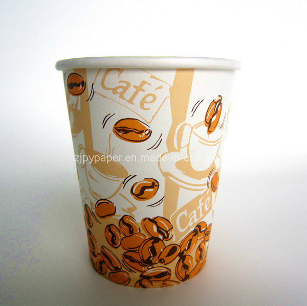 [Hot Item] Disposable China Company Coffee Paper Cup Manufacturer, with Lid  or Fold Handle