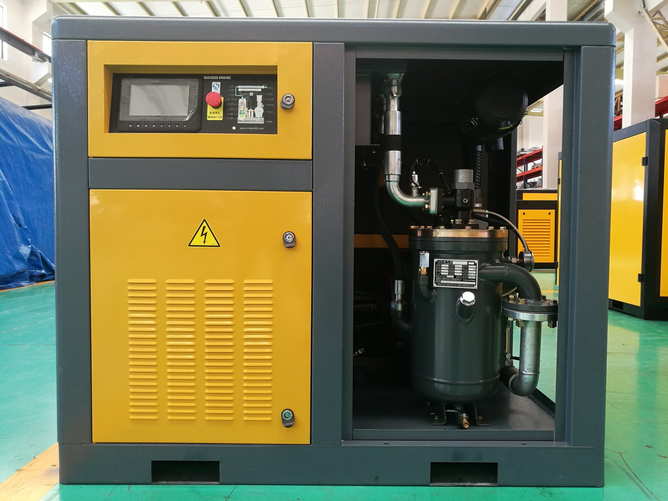 Two-Stage 30% Energy-Saving Coupling Driven Screw Air Compressor  (75KW-100HP)