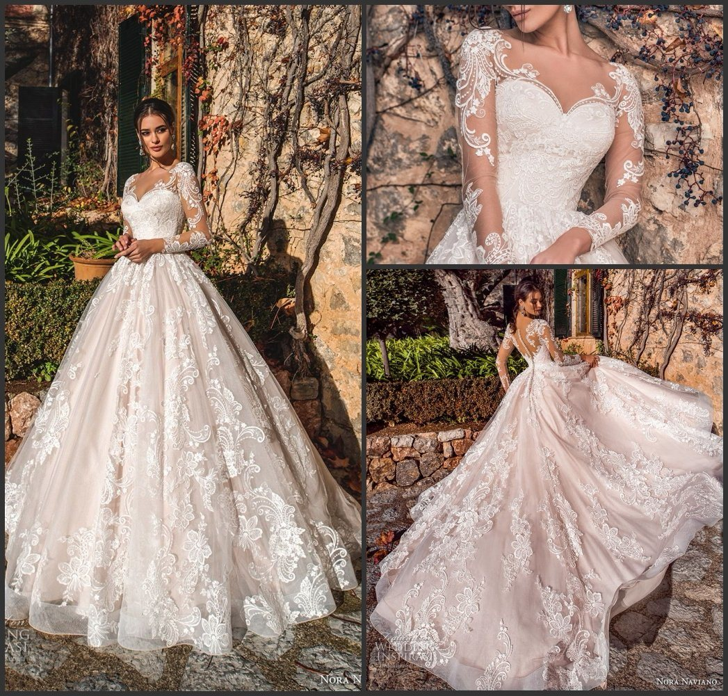 China Lace Ball Gown Puffy Arabic Bridal Wedding Dresses