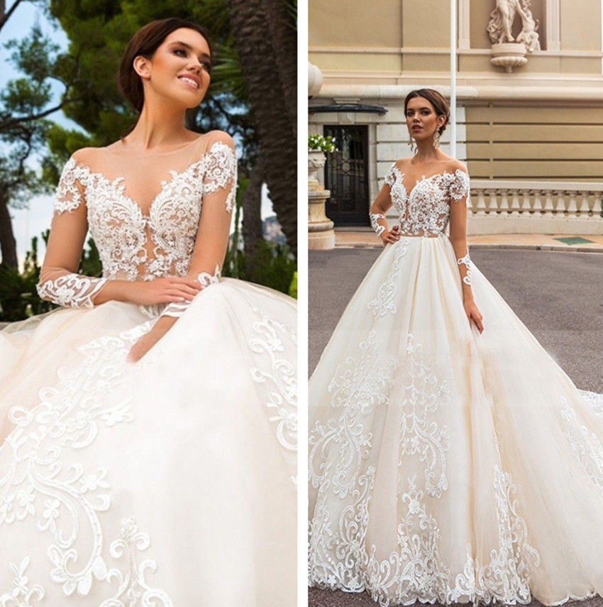 Lace Wedding Gowns With Sleeves: China Long Sleeves Bridal Gown Lace Tulle Empire Maternity