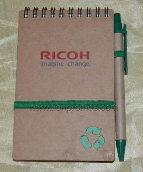 china ricoh logo eco friendly recycled kfraft paper pocket coil