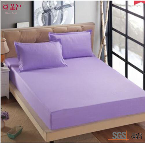Microfiber Polyester Solid Color Bedsheet Sets, Fitted Sheet pictures & photos