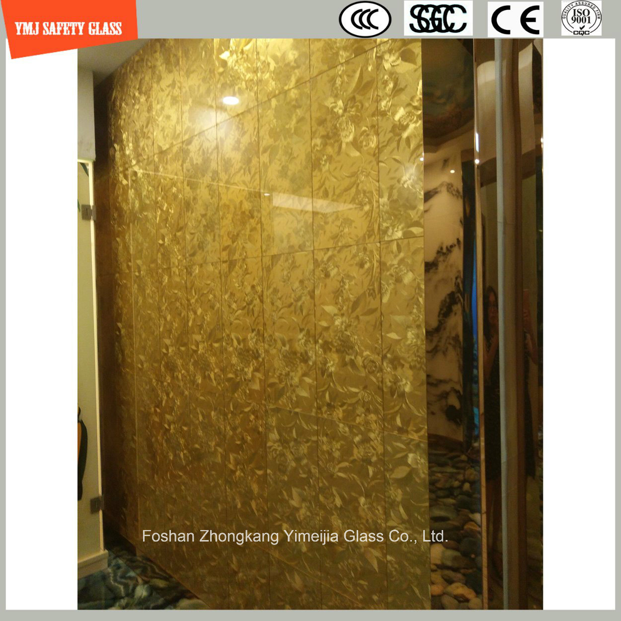 China 6mm-20mm Safetylaminated Glass with Fabric/Leather Interlayer ...