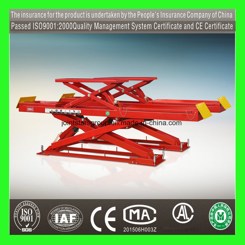 Scissor Car Lift with 3.5tons for Car Repair/Auto Lift/ Car Lifter/ Two Car Lifter/2 Post Lift/Scissor Lift/3.5t/4t/5t