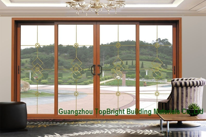 China Latest Wood Wooden Frame Sliding Glass Door System