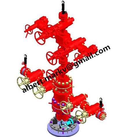 China API 6A Wellhead & X-Mas Tree for Oil and Gas Well / Wellhead Production Tree /Oil ...