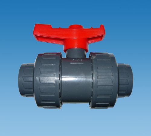 "1/"" Double Union Ball Valve Complete With Plain And Threaded Connectors"