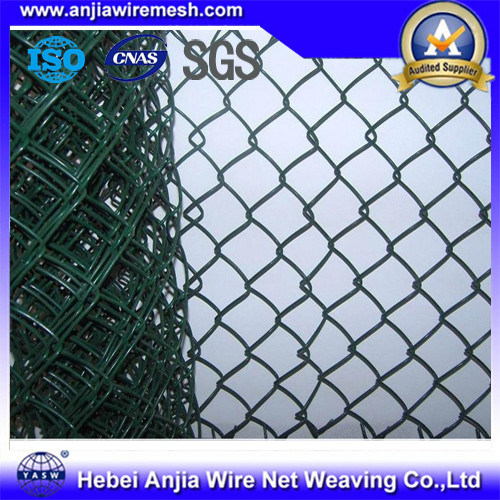 China Green Security Pvc Coated 100 Ft Roll Chain Link Fencing