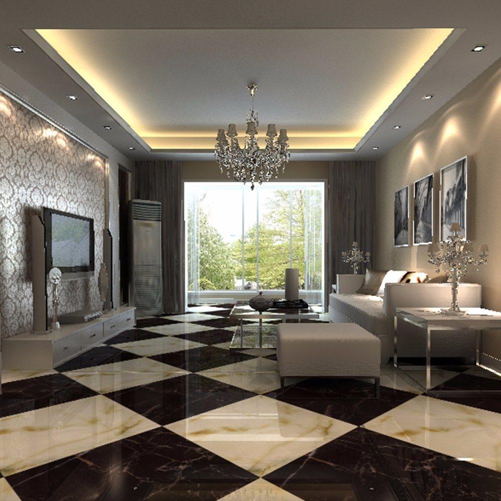 China White Glazed Porcelain Full Polished Ceramic Floor Tiles