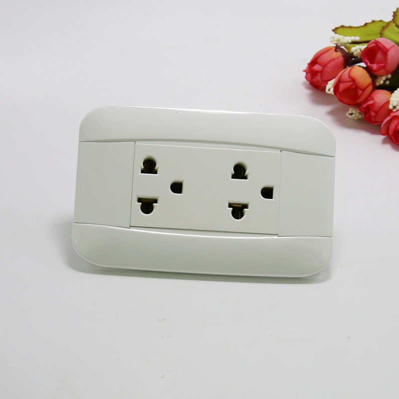 China South American Electrical Electric Two Gang Socket Outlet ...