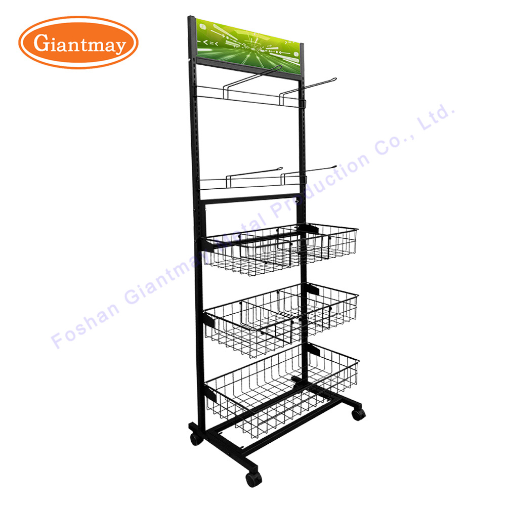 China Single Side Exhibition Display Stand Hanging Hook Mesh Wire ...