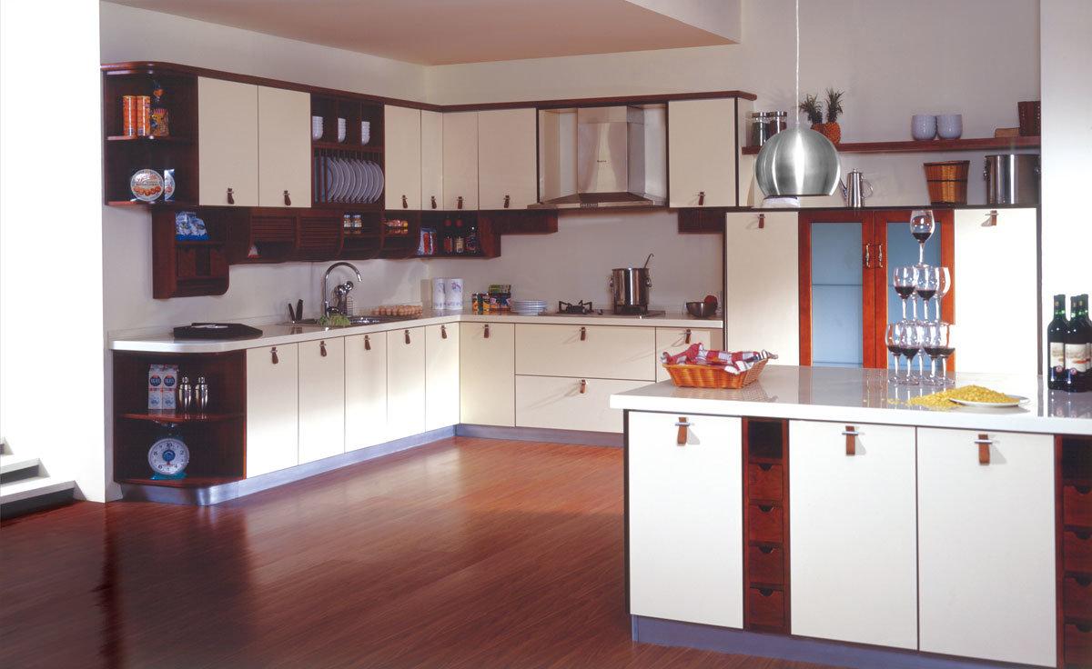 Hot Item Custom Size High Quality Price Full White Aluminum Kitchen Cabinet