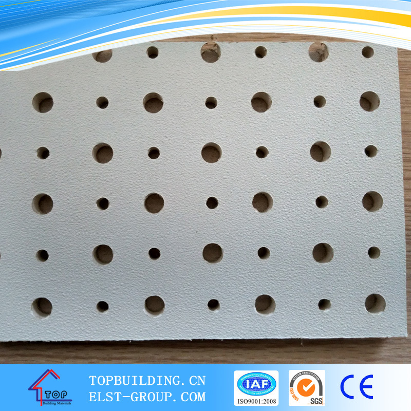 Perforated Gypsum Ceiling Tile / Acoustic Gypsum Ceiling