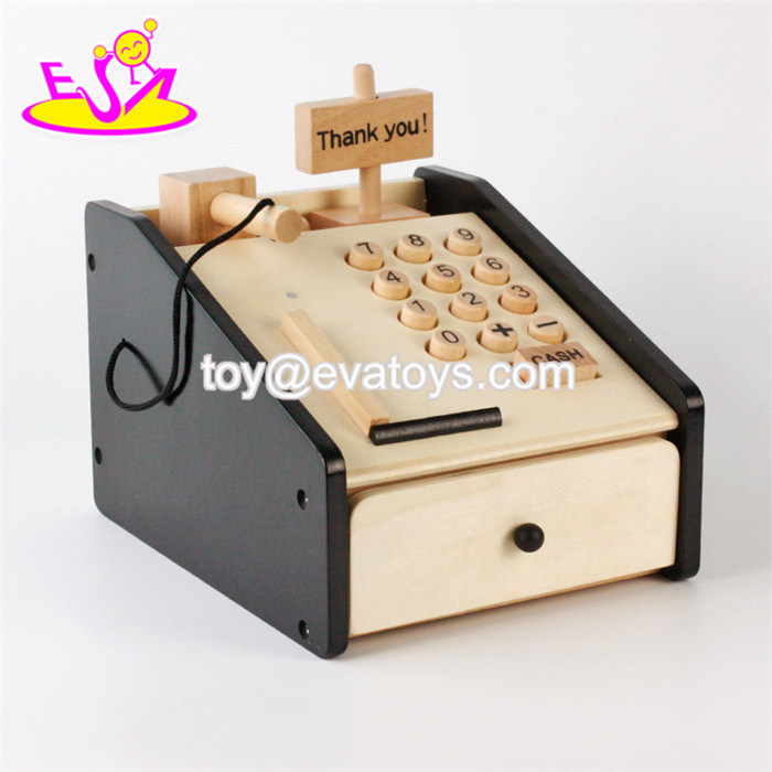 China Multi Function Educational Toys Wooden Pretend Play Toys Cash