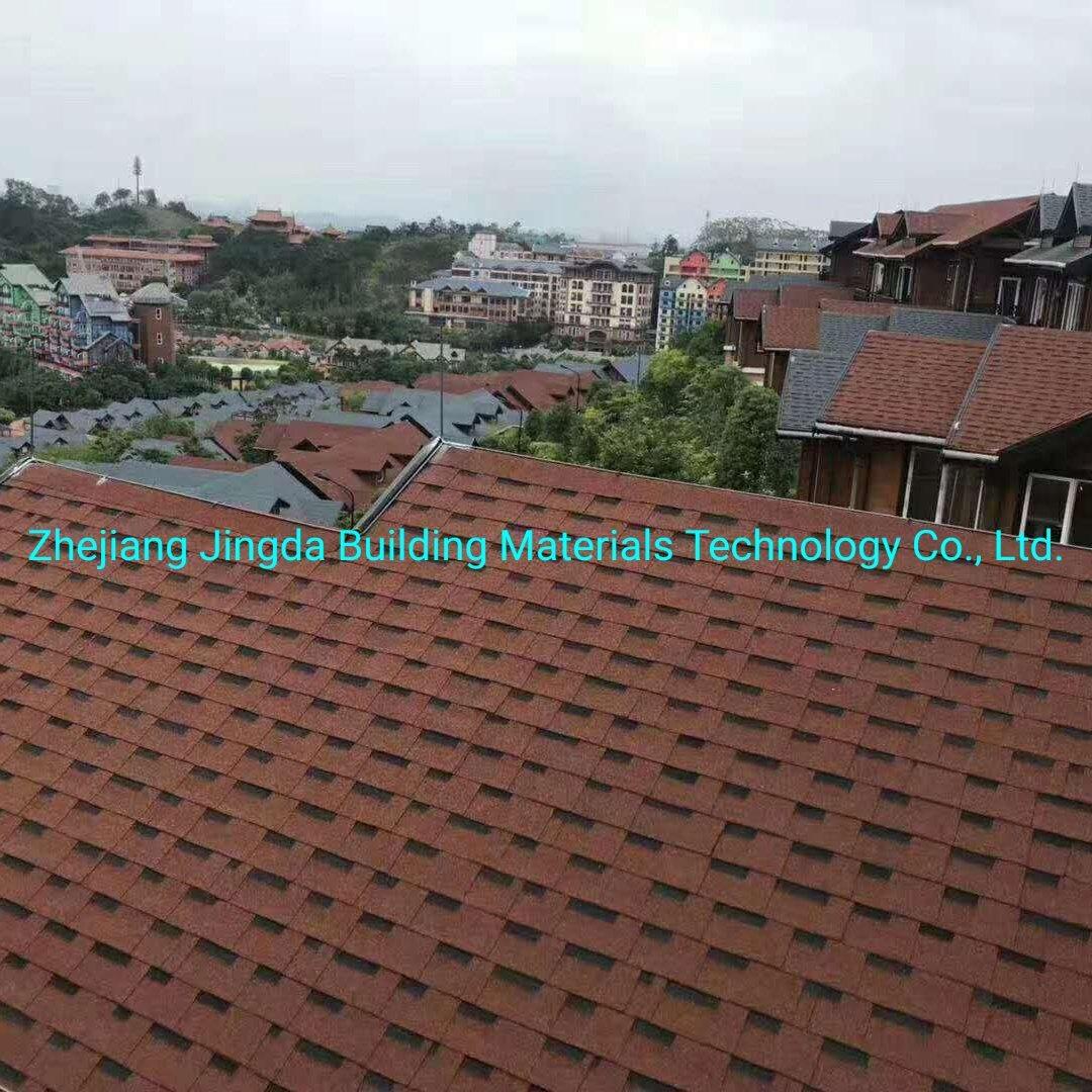 [Hot Item] Building Material Dimensional Fibreglass Green Roof Zhejiang  Jingda 19*19mm Laminated Roofing Shingles Construction Material