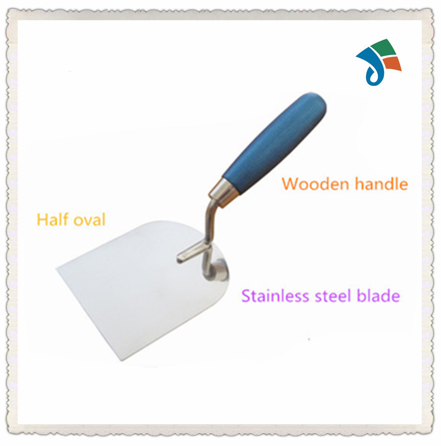 Painted Wooden Handle Stainless Steel Bricklaying Trowel for Construction pictures & photos