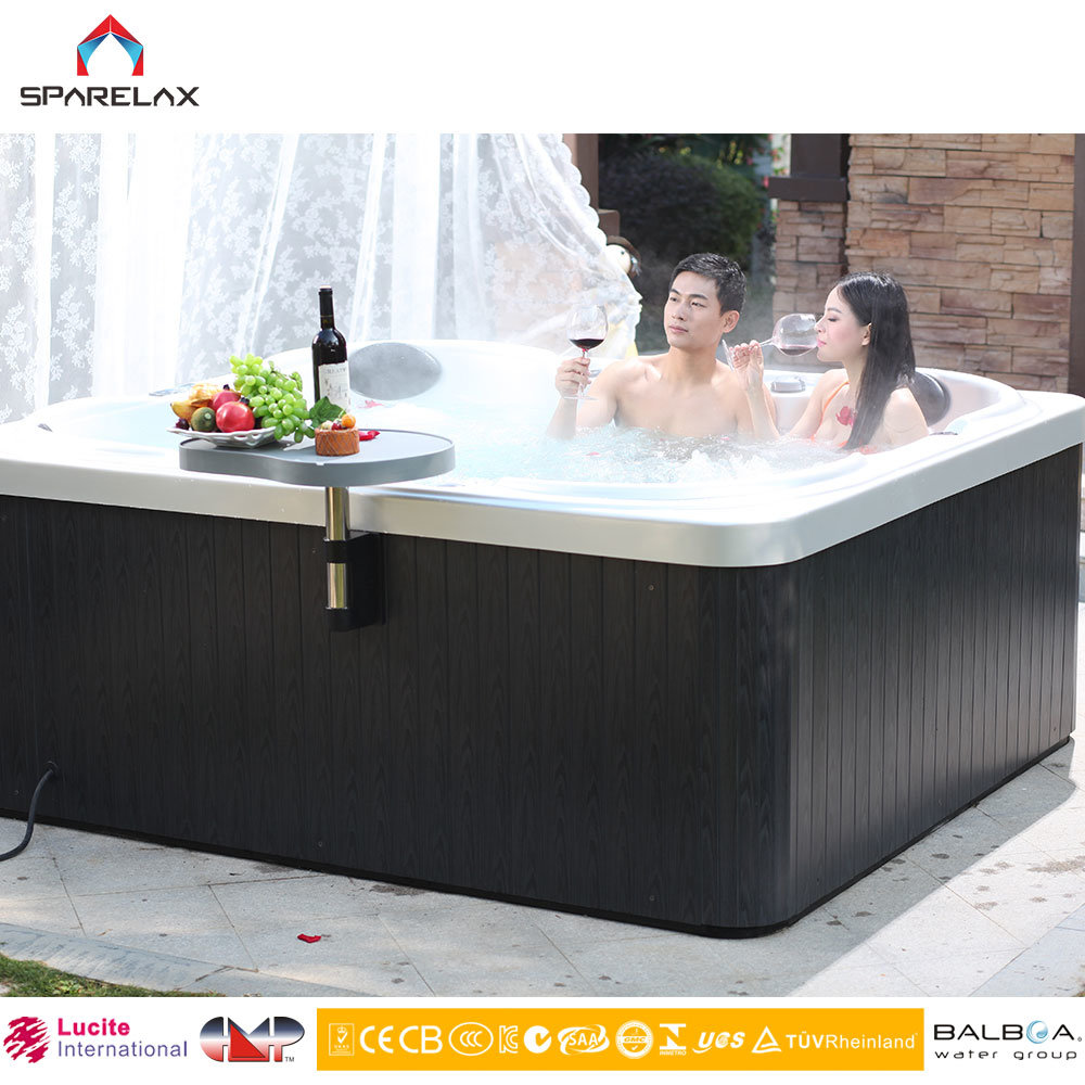 China Cheap High Quality 5 Persons Outdoor Acrylic Whirlpools SPA ...