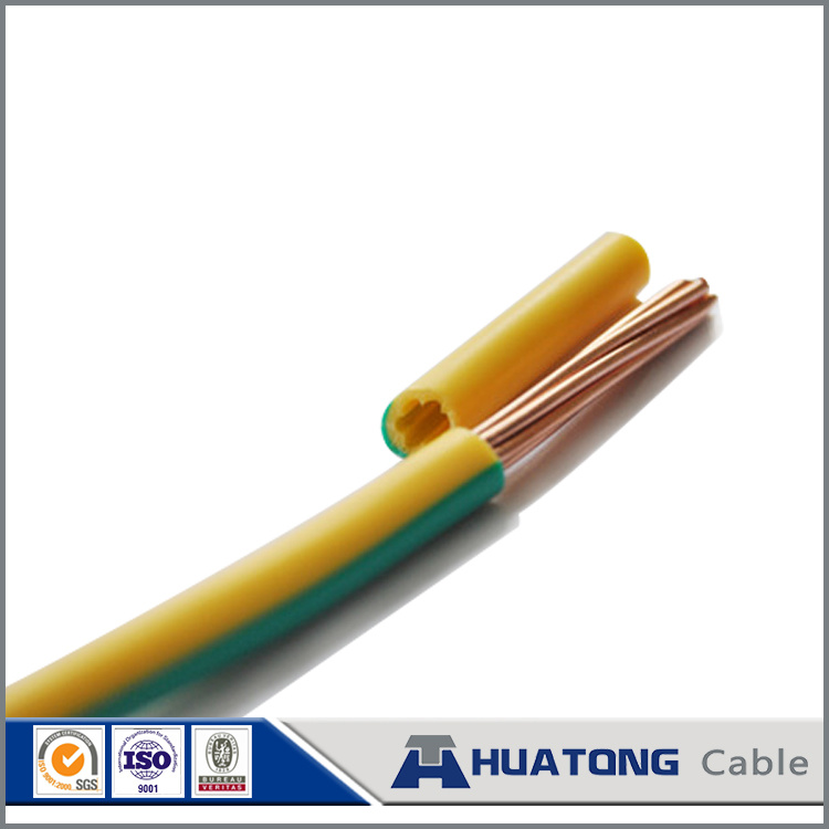 China PVC Insulated Cable Copper Conductor Yellow Green Wire ...