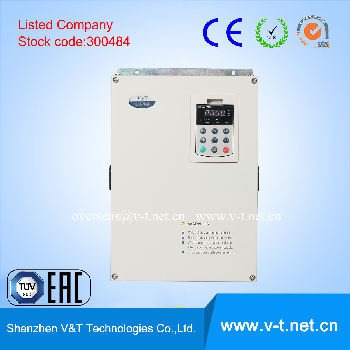 V5 H China Leading Mini Variable Frequency Inverter 1 3ph With Power Supply Sequence Function Plc Logic 04 To 45kw Hd Ac Drive