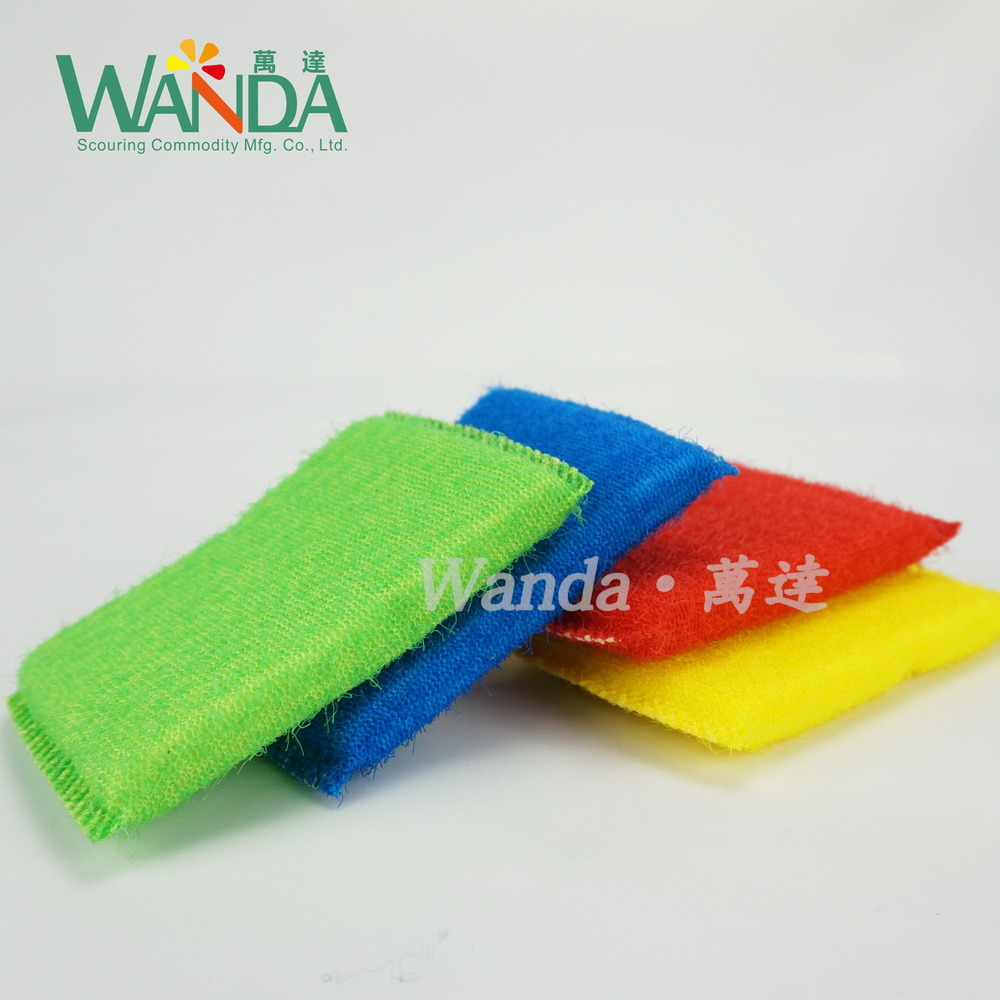 Hot Selling Colorful Kitchen Cleaning Sponge Mesh Sponge Scourer pictures & photos