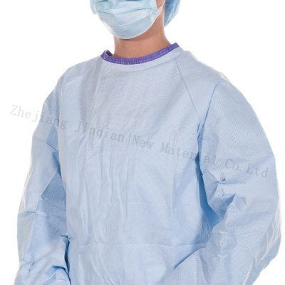 SMS Nonwoven Fabric for Surgical Use Blue&Green Surgical Gown pictures & photos