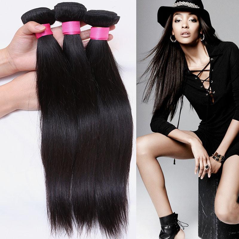 China 360 Degrees Straight Hair Natural Color Peruvian Hair Remy
