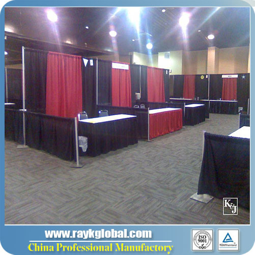 Used Trade Show Booth : China portable pipe and drape used trade show displays china