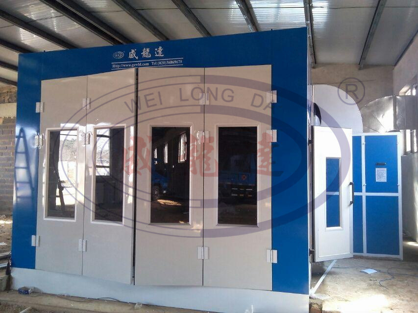 China Car Spray Paint Booth With 4 Folders Luxury Front Door Photos