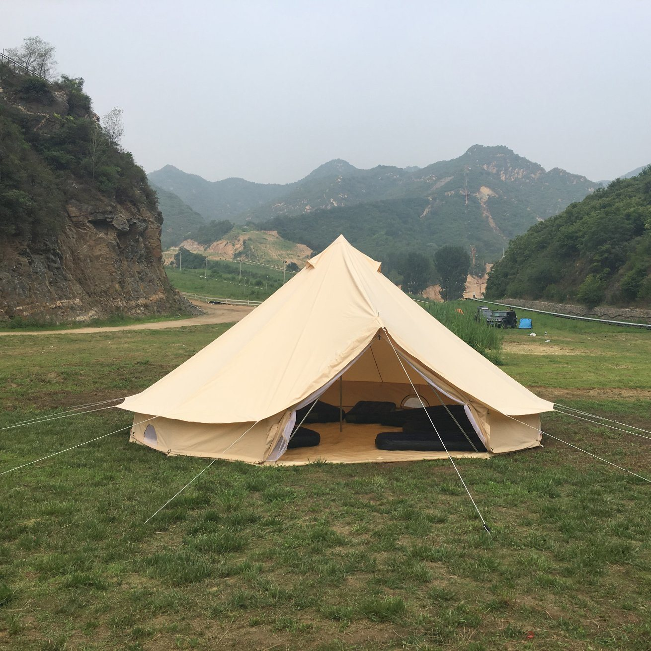 the latest 2d350 fca37 [Hot Item] Wholesale Camping Supplies 5*5m Biggest Family Tent Canopy Tent  Bell Tent
