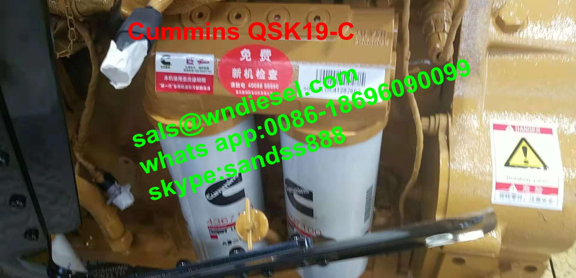 China Cummins 6-Cylinder 456-897HP Qsk19 Diesel Engine Assy