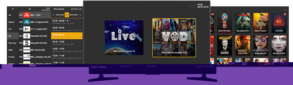 [Hot Item] 1 Year USA UK Ireland Australia Club IPTV with Live TV VOD Movie  3000+ Channels No Monthly Fee