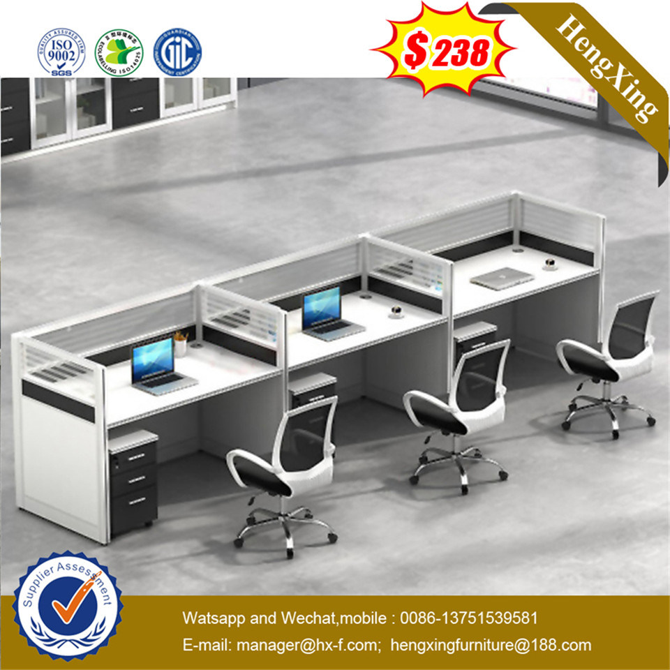Modern Design Steel Legs Maple Color Office Partition pictures & photos
