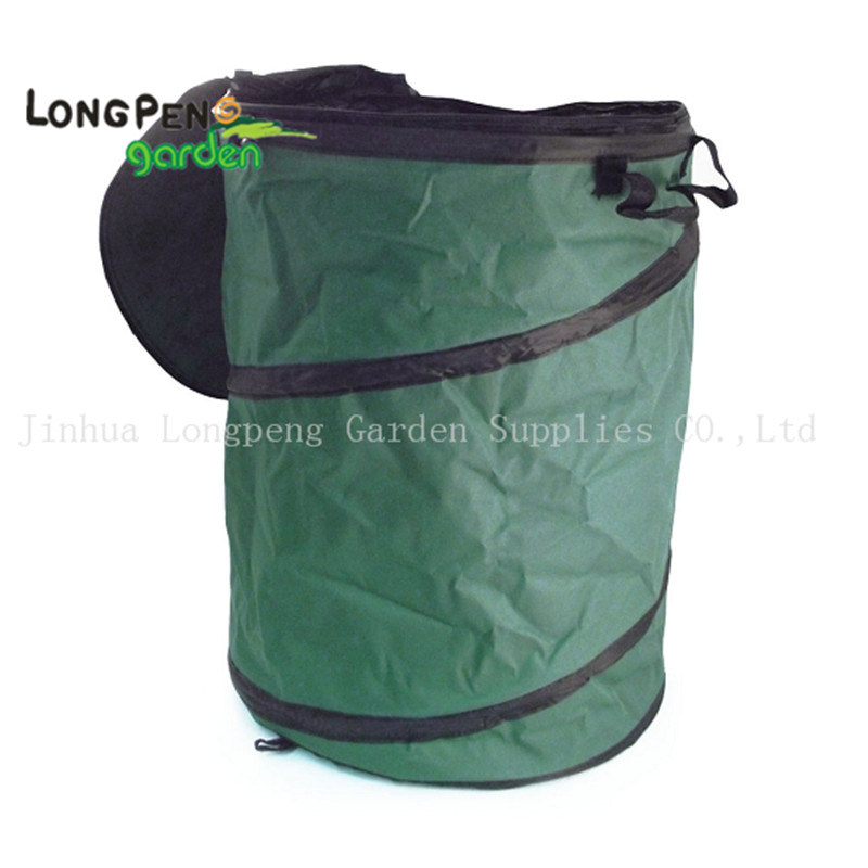 Oxford Collapsible Leaf Container, Garden Bag with Zipper Lid pictures & photos