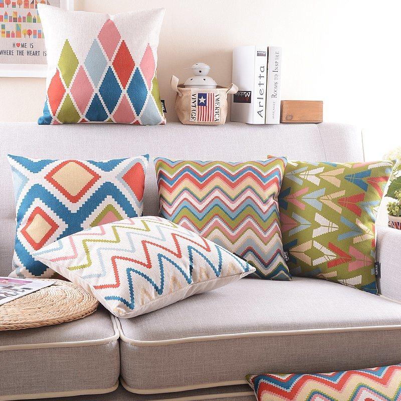 Plycotton Plain Cushion Cover Sofa