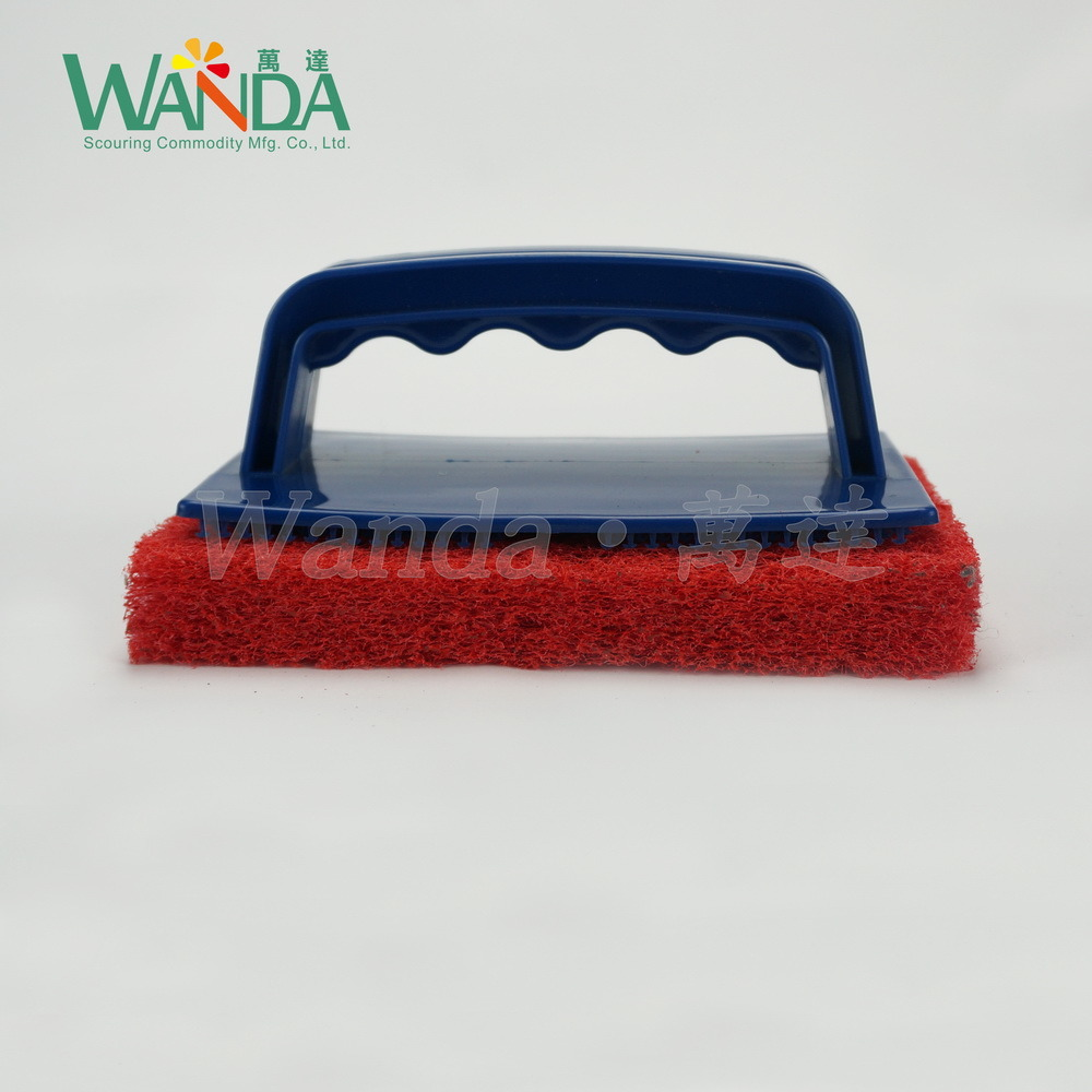 Thickening Replaceable Floor Pools Kitchen Cleaning Brush Scrubbers with Handle pictures & photos