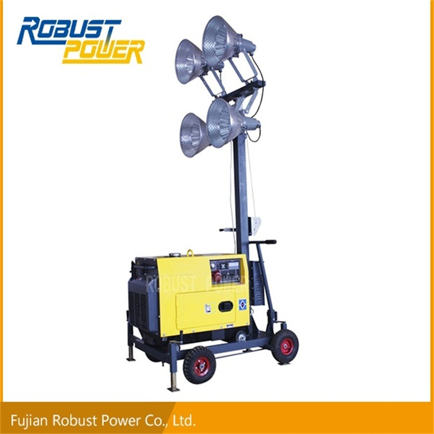 China Rplt Portable Lighting Tower With 4*400W Metal