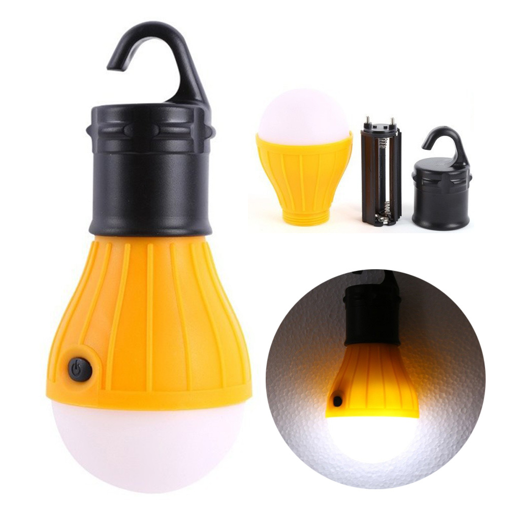 Tent Camping Lamp LED Bulb Lantern with Hook Sos Light