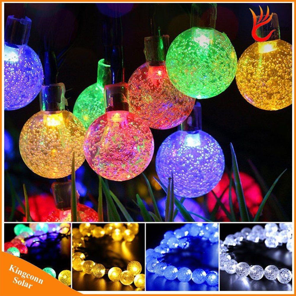 30leds bubble solar string lights for garden christmas wedding decoration - Solar Garden Christmas Decorations