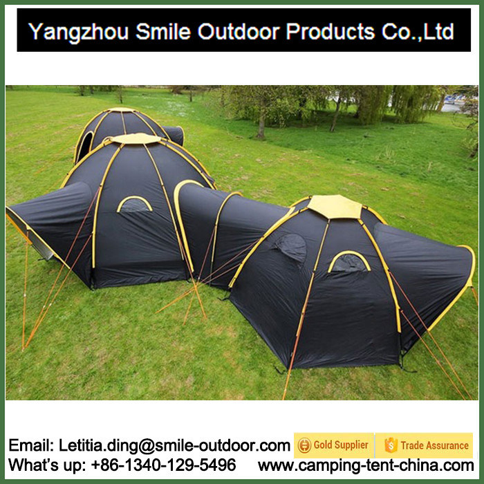 China 15 Person Large Hexagon Room Connectable Waterproof Family Tent - China Tent C&ing Tent  sc 1 st  Yangzhou Smile Outdoor Products Co. Ltd. & China 15 Person Large Hexagon Room Connectable Waterproof Family ...