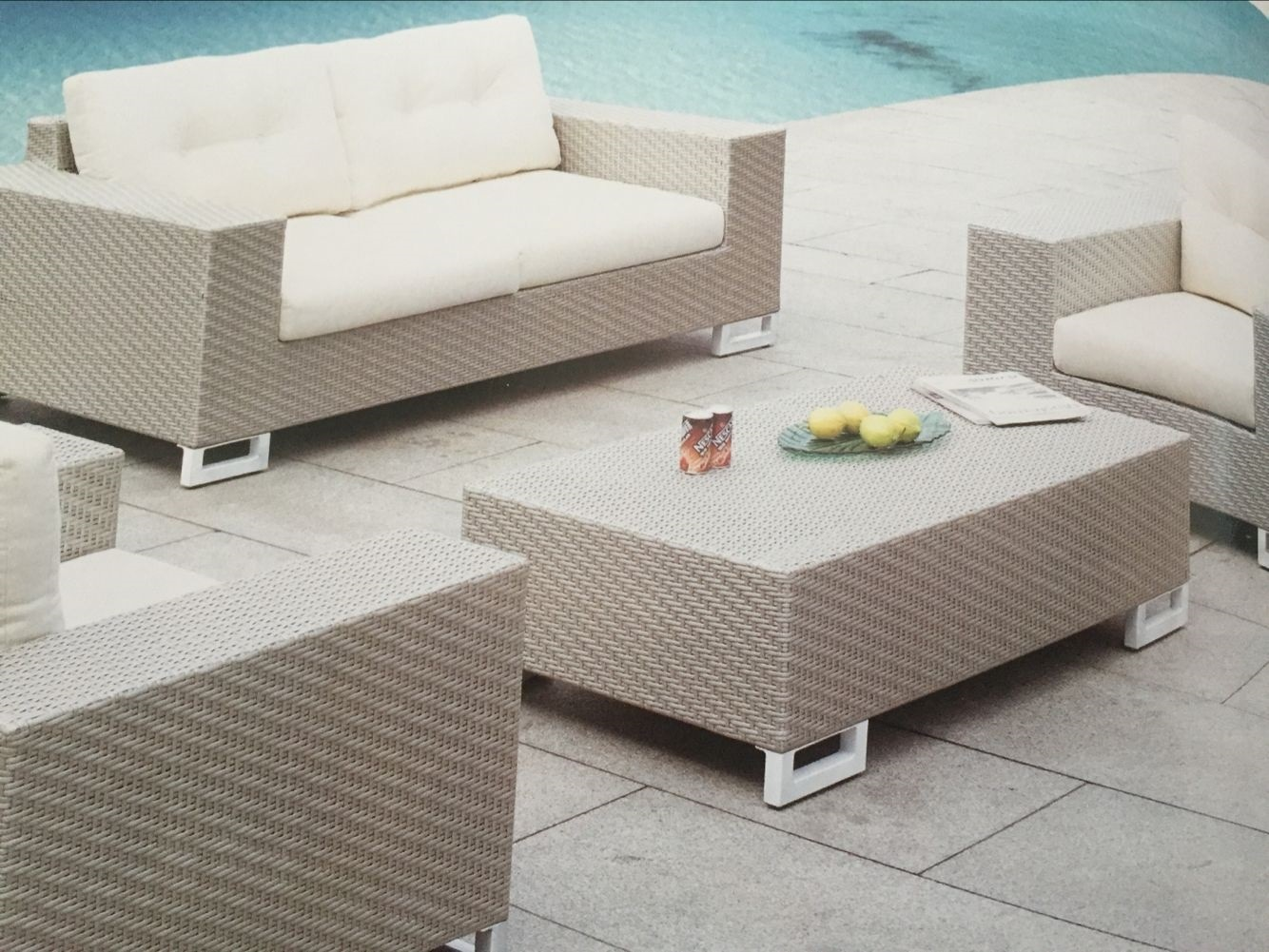 Outdoor Furniture Rattan Alu Sofa