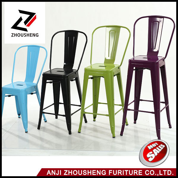 Wholesale The Cheap Bar Furniture Metal Bar Stool Bar Chair for Bistro or Bar