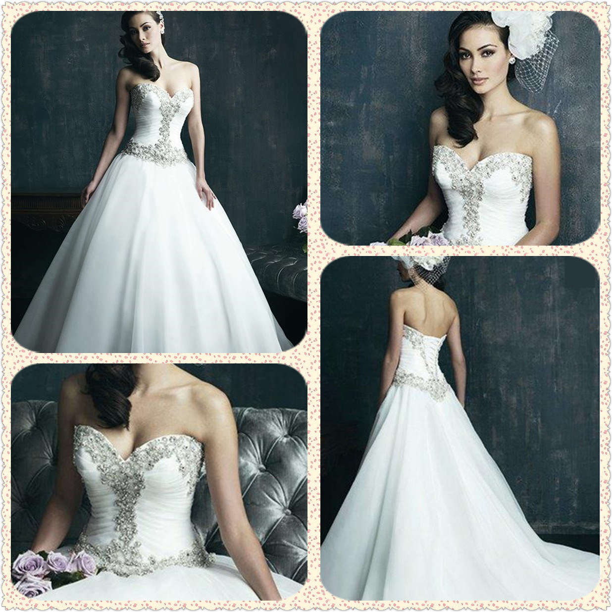 China Western Strapless Corset Bridal Ball Gown Wedding Dress (Dream ...