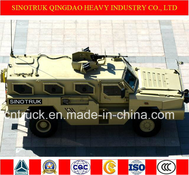 Sinotruk Tiger Brand 4X4 Wheeled Armoured Vehicle with Bullet Proof