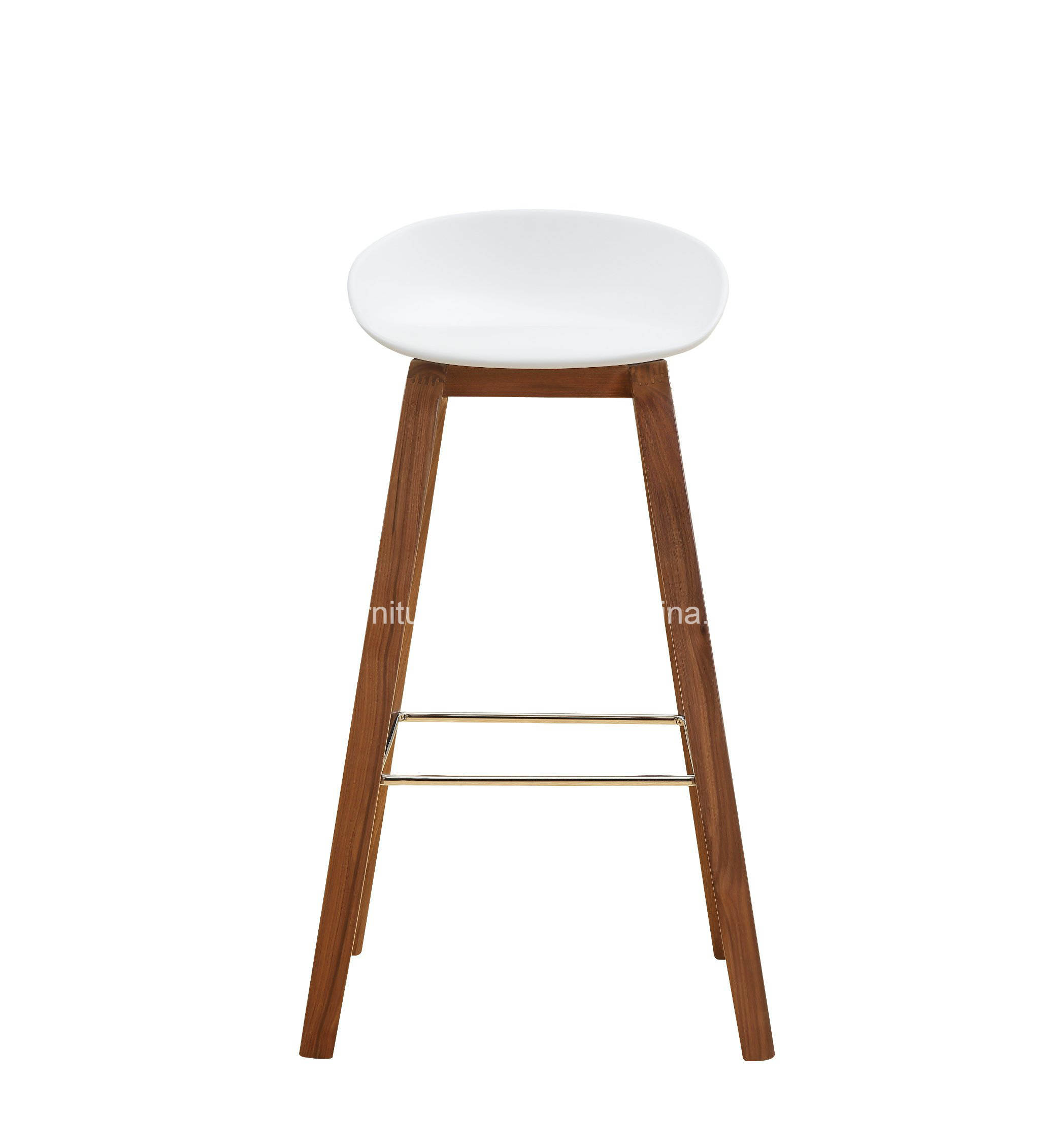China Leisure Plastic Seat Top Wooden Leg Bar Stool Living Room ...