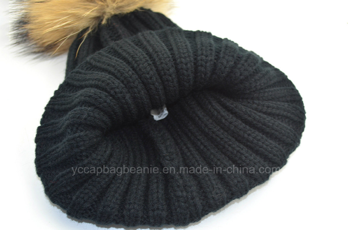 Wholesale High Quality Ribbed Beanie, Knitted Hat pictures & photos