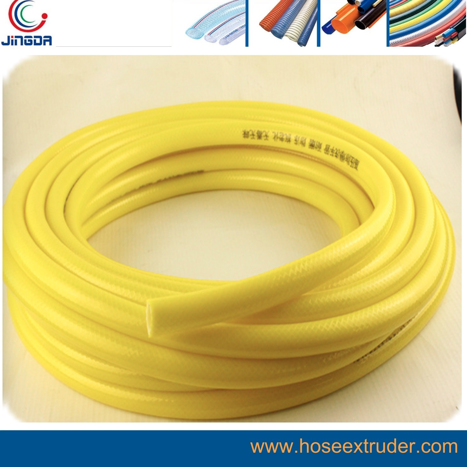 "100 Feet Made in USA 3//8/"" Reinforced Vinyl Tubing Braided Reinforced"
