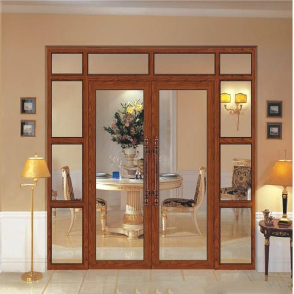 China Factory Price Cheap Aluminum French Lowes Glass Doors For